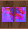 set of colorful banners size of a4 decoration vector image