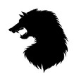 silhouette of werewolf head fairtale character of vector image