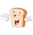 slice of bread cartoon posing vector image