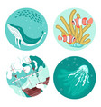 social media story highlight icons vector image vector image
