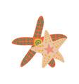 starfish marine or ocean underwater sea star vector image vector image