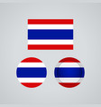 thai trio flags vector image