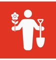 The gardener avatar icon Gardening and vector image