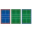 Three designs of tennis court vector image