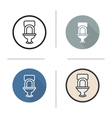 Toilet flat design linear and color icons set vector image vector image