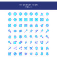 ui gadget icon set vol 1 vector image vector image
