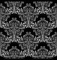 vintage black and white damask seamless pattern vector image