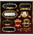 vintage gold framed labels vector image vector image