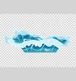 water splash animation shock waves on transparent vector image