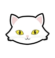 White cat kitty yellow eyes animal cute