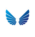 wings heraldic symbol heraldic coat arms vector image