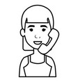 woman with telephone calling vector image