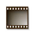 realistic retro frame of 35 mm filmstrip with vector image