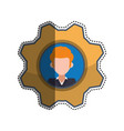 gear frame male faceless picture vector image