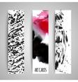 Paint texture cards set vector image