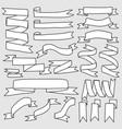 set of hand drawn ribbon banner vector image