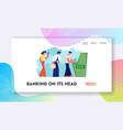 atm transaction services banking website landing vector image vector image