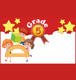 background design template for grade 5 with three