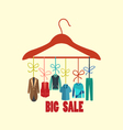 Background of Hanger with fashion men vector image