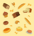 bakery pattern background vector image