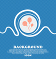 Balloons sign Blue and white abstract background vector image