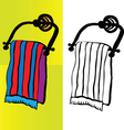 Bath towel vector image