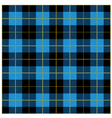 Blue Tartan Plaid Design vector image vector image