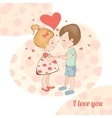 Boy and girl holding handsCouple in love in vector image