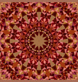brown repeating kaleidoscope pattern background vector image vector image