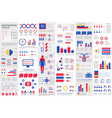 bundle infographic elements data visualization vector image