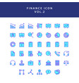 business and finance icon filled outline set vol 2 vector image vector image