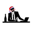 businessman silhouette of a man will celebrate vector image