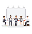 businessmen and businesswomen meeting vector image
