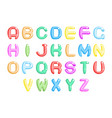 children party abstract fun alphabet a to a font vector image vector image