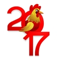 Chinese New Year 2017 with Rooster vector image vector image