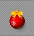 christmas ball on transparent vector image