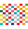 colorful rectangles seamless retro flat vector image vector image