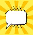 comic speech bubble rectangular shape pop art vector image