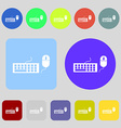 Computer keyboard and mouse Icon 12 colored vector image vector image
