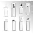 cosmetics bottles transparent set vector image vector image