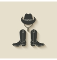 cowboy hat boots icon vector image