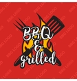 Creative bbq logo design with flame vector image
