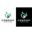 creative family love and care family logo design vector image vector image