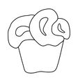 Cupcake icon in outline style vector image vector image