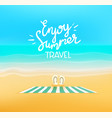 enjoy summer travel beautiful landscape with vector image
