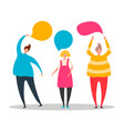 flat style cute people point vector image