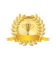 gold badge vector image vector image