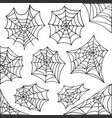 hand drawn spider web halloween symbol cobweb vector image