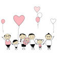 Happy birthday big family with children newborn ba vector image