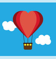 heart shape air balloon vector image